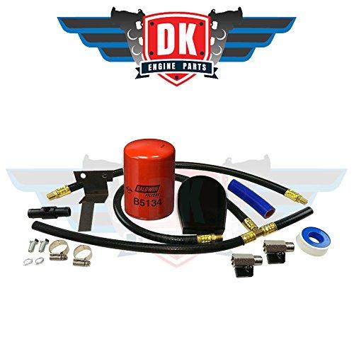 Black Coolant Filtration Kit - Fits Ford 6.0L Powerstroke 2003-2010 Engines - DK Engine Parts