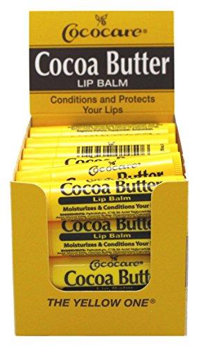 Cococare Cocoa Butter Lip Balm 0.15oz (24 Pieces)