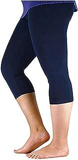 Century Star Women's Modal Plus Size Basic Solid Capri Leggings
