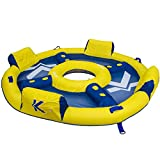 Skroutz Chair Water Blue & Yellow Floating Island Relaxation Station Lounger Inflatable Lake Large Floating Lounge Raft Comfortable Rafting Party Summer Fun Durable 4 Person Raft with Coolers