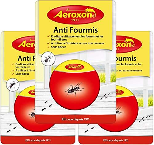 Aeroxon - Anti Fourmis Boite Appat - 3 Paquets - Combat Le nid de Fourmis Entier