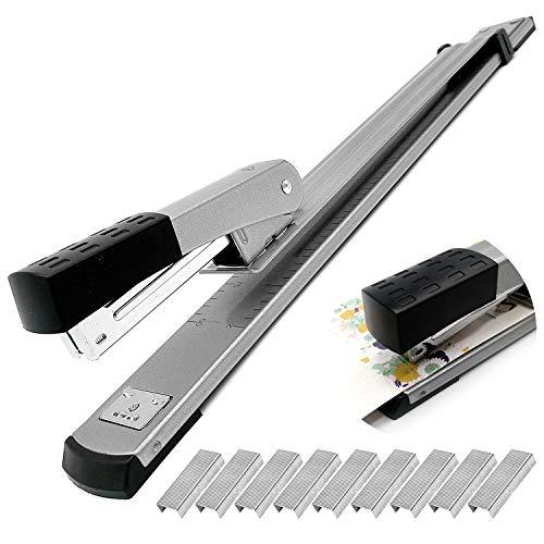 Grapadora de brazo largo, capacidad para 25 hojas, herramienta ideal para encuadernar documentos
