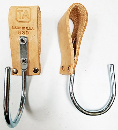 T A 539 Leather Loop & Steel Float Hook, 2/PK Made in USA