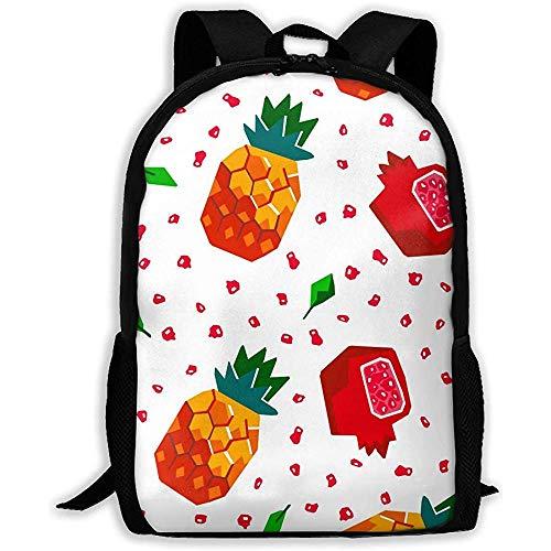 Wobuzhidaoshamingzi schoolrugzak ananas en granaat appel bookbag casual reistas voor volwassenen