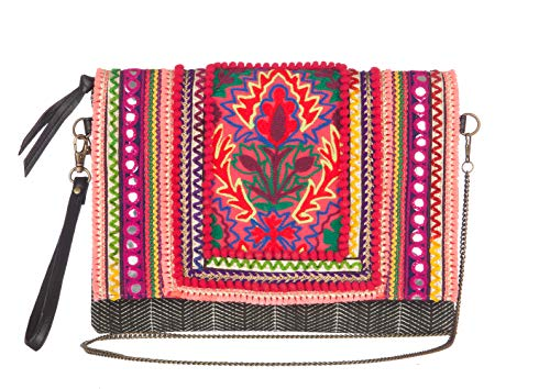 MAYA handbags Cartera HEMAL para Mujer-Rojo