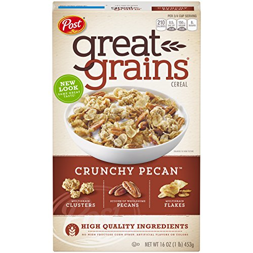 Post Great Grains Crunchy Pecan Whole Grain Cereal, 16-Ounce Boxes (Pack of 7)