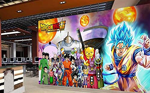 3D Japanese Anime Wallpaper Dragon Ball Super Character Poster Background Wall Decoration Gym Wallpaper 350(L) x245(H) cm
