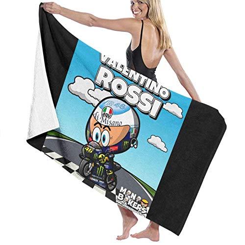 Valentino Rossi VR46 - Toalla de baño de viaje para playa, spa, yoga, súper absorbente, rápido y de secado suave, de gran tamaño