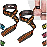 """Rip Toned Lifting Straps (Pair) for Weightlifting, Bodybuilding, Powerlifting, Xfit, Strength Training, Deadlifts, MMA - Neoprene Padded - 23"""" Cotton Wrist Straps - Men or Women"""