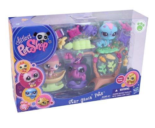 Littlest Pet Shop Figures Themed Playset Garden Sleepover Star Gazin Pets by Littlest Pet Shop