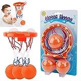 YAAVAAW Juguetes de baño-Canasta Baloncesto Infantil Bañera, y 3 Bolas,Playset para Little Baby Bath Toys Juego Creativo de tiros de bañera, Regalo de Juguetes de baño para niños y niños pequeños