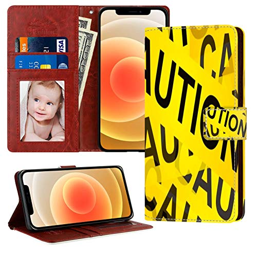 UZEUZA Funda para iPhone 12 Mini Premium PU cuero magnético bolsillo caso Kickstand tarjeta titular ranuras con subasta