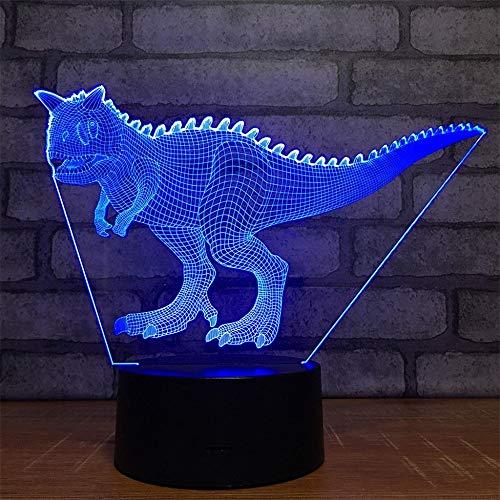 Niu Tau Long 3D Led 7 Colores Luces Nocturnas Remotas Dormitorio Lámpara De Noche Lámparas De Mesa Decorativas Luces De Sueño Parejas De Halloween Cumpleaños Regalos De Navidad