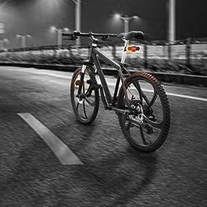 Chenso - Luz trasera para bicicleta, 1 juego de intermitentes delanteros y traseros para bicicleta