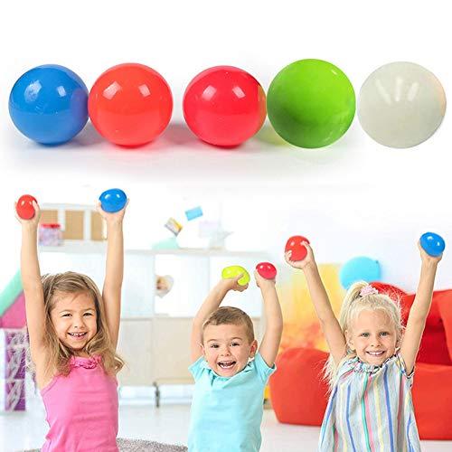hooks 5PCS Fluoreszierende klebrige Zielkugeln, klebrige Wandkugeln, klebrige Kugelball-Dekompressionsspielzeug für Kinder Erwachsene, (zufällige Farbe)