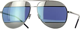 New Christian Dior SPLIT 1 010/3J Palladium/Blue Silver Tone Sunglasses