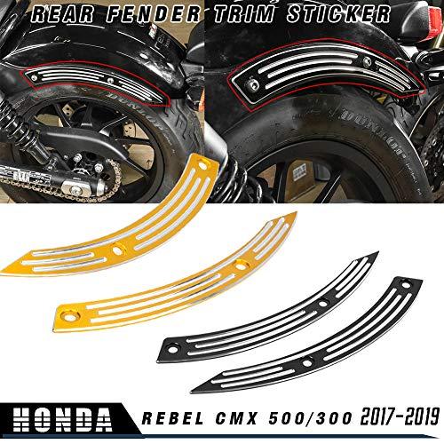 LoraBaber Accesorios de motocicleta Guardabarros trasero Adhesivo Protector lateral Cubierta para H-o-n-d-a Rebel CMX 500 CMX 300 CMX500 CMX300 2017 2018 2019 (Negro)