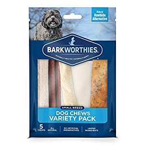 Barkworthies Healthy Dog Treats & Chews Variety Pack – Protein-Rich, All-Natural, Highly Digestible, Rawhide Alternative – Promotes Dental Health – Great Gift for All Dogs
