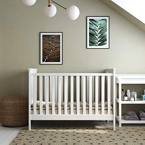 Baby Relax Baby Relax Sila 3 in 1 Convertible Crib, White, White