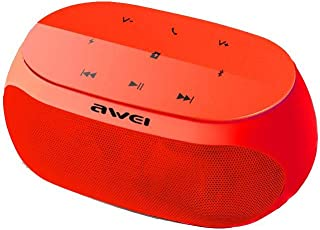 Awei Y200 Super Bass Portable Wireless Bluetooth Speaker with Radio (NFT) - Red