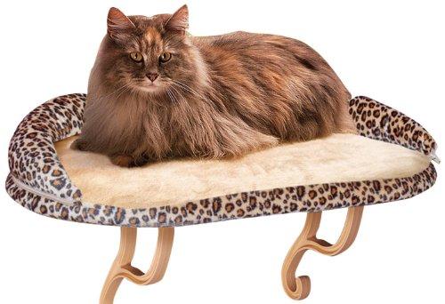 KH 779097 Kitty Sill Katzenfensterbett mit Leoparden-Print-Fleece