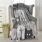COLLA Kawaii Cat Blanket for Girls Cute Kids Throw Blankets, Soft Plush Fleece Flannel Throw Blanket for Cat Lovers Sofa Living Room Bedroom 50x40 Inch