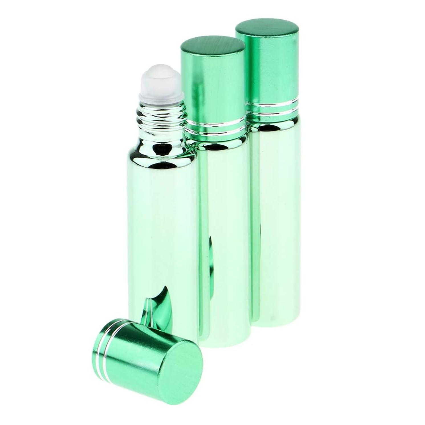 ビスケットあごお世話になったPerfeclan 詰め替え ロールオンボトル アロマオイルボトル エッセンシャルオイル容器 アイクリーム容器 全5色 - 緑