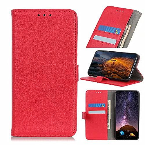 Funda protectora para Samsung Galaxy M62 F62, a prueba de golpes, con función atril, ranura para tarjeta de crédito, cierre magnético, color rojo