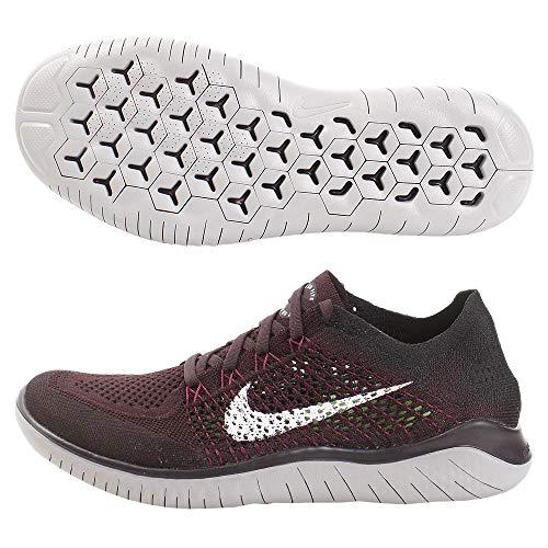 Nike Men's Free RN Flyknit Running Shoe, Burgundy Ash/White-black-atmosphere Grey, 12 Women/9.5 Men