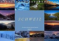 Schweiz - Eine Reise durch die idyllische Bergwelt (Tischkalender 2022 DIN A5 quer): Landschaftsfotos aus dem Berner Oberland, Wallis, Baselbiet und der Innerschweiz (Monatskalender, 14 Seiten )