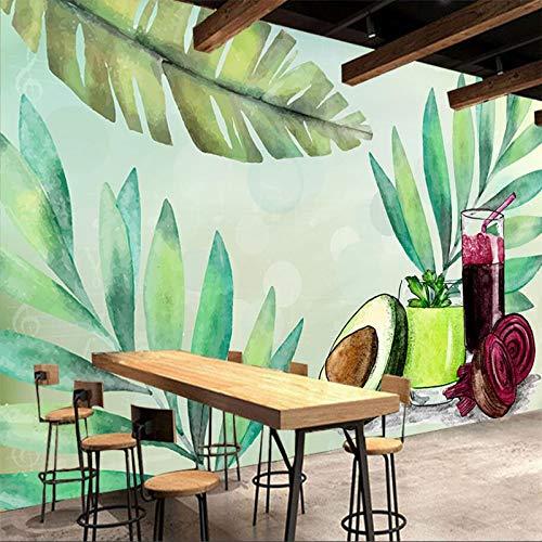 Handbemalte Obst Und Gemüse Ernährung Sauce Tee Restaurant Werkzeug Wand Benutzerdefinierte Große Wandbild Tapete (W)300x(H)210cm