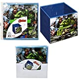 Marvel Avengers Spiderman Children's Collapsible Storage Toy Box with Handle (Large, Avengers 2)