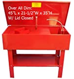 40 Gallon Parts Washer Cleaner w/Pump Shelf & Basket