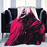 JONINOT Anime Tokyo Ghoul Red Eyes Couverture Couvre-lit en Microfibre Couverture Soft Coral Bed Cover 80 'x60' Pouces