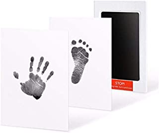 Baby Handprint or Footprint Touch Ink Pad,Baby Souvenirs Casting Newborn Footprint