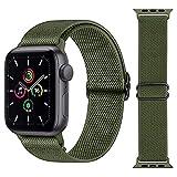 Hatolove Nylon Correas Compatible con Apple Watch 44mm 42mm 38mm 40mm, Elástico Bandas Pulseras de Repuesto de Nylon Correa con Hebillas Ajustables para iWatch Series 6 5 4 3 2 1 / Apple Watch SE