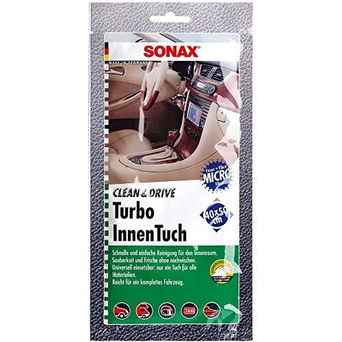SONAX 4130000 Clean&Drive TurboInnenTuch 40x50 Thekendisplay (1 Stück) Reinigt sanft und gründlich alle glatten und Rauen Oberflächen im Innenraum | Art-Nr. 04130000, 1