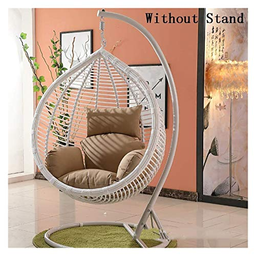 LLNN Home Decoration Swing Chair Cushion Large Hanging Egg Hammock Chair Cushion Without Stand,Thicken Patio Swing Chair Cushion,Egg Nest Hanging Basket Seat Cushion Hanging Basket Furniture Cushion