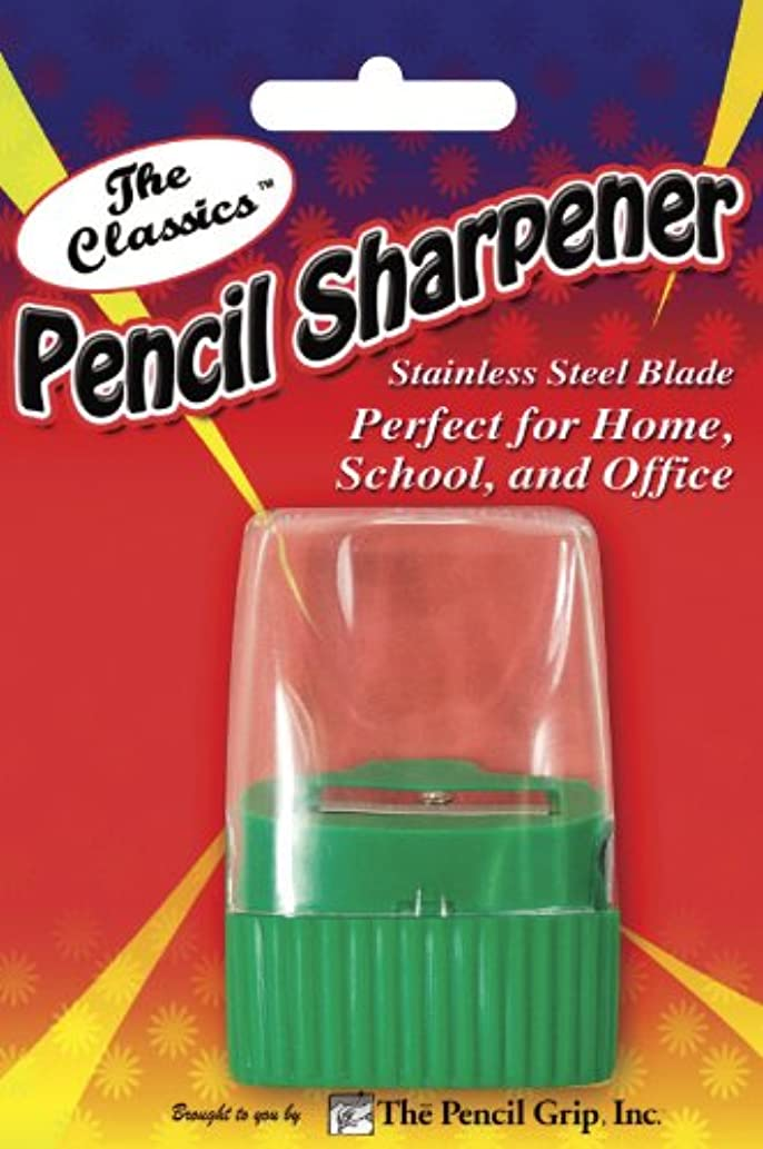 Pencil Grip The Classics Pencil Sharpener with Stainless Steel Blade (Single Wedge Shape), Assorted Colors (TPG-142)