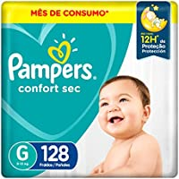 Fralda Pampers Confort Sec G 128 Unidades, Pampers