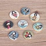 ZIJ 10 PCs Niña de Madera Botones for álbumes de Recortes Crafts DIY Ropa de Costura de Equipaje Accesorios Hechos a Mano de la decoración del botón (Color : Little Girl)