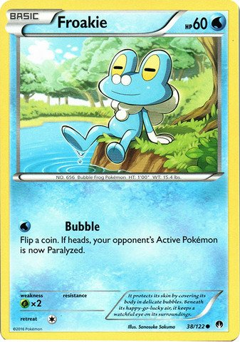 Pokemon - Froakie (38/122) - XY Breakpoint