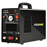 PrimeWeld 50A Air Inverter Plasma Cutter with Non-Touch Pilot Arc, Automatic Dual-Voltage (110V/220V) and Dual-Frequency (50Hz/60Hz) Portable Plasma Cutter, 1/2' Clean Cut, CUT50DP