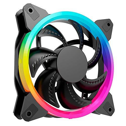 Ventilador Individual Gaming - 120mm - Color Arcoíris - 1200RPM - 4 Pines