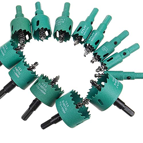 ZT-TTHG 16-70mm M42 Wood HSS Drill Bit Wood Hole Saw Diamond High Speed Steel Tooth Cutter Stainless Steel Metal for Electric Drill (Hole Diameter : 65mm)