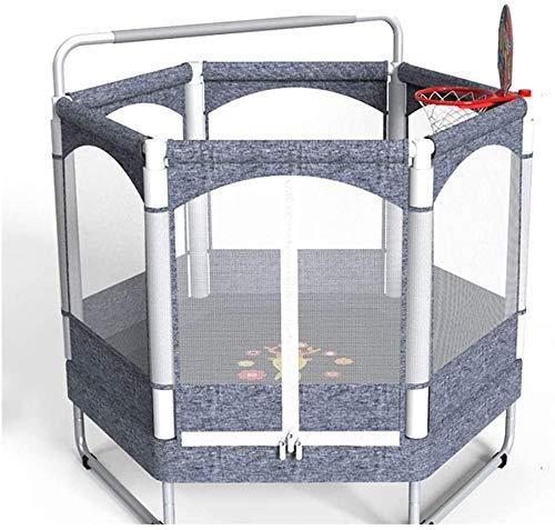 LuoMei Große Outdoor-Fitness Kinder Trampolin Hochelastisches Trampolin Sicherheitsnetz Rutschfeste Leise Fußmatten Haushalt Erwachsene Eltern-Kind-Unterhaltungsspielzeug