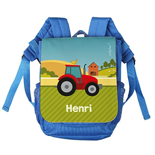 Striefchen® Kinder-Rucksack mit Namen - Traktor - ideal für den Kindergarten