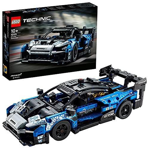 LEGO 42123 Technic McLaren Senna GTR Rennauto, Fahrzeug Bausatz, Modellauto, Geschenk für Kinder ab 10 Jahre und Erwachsene