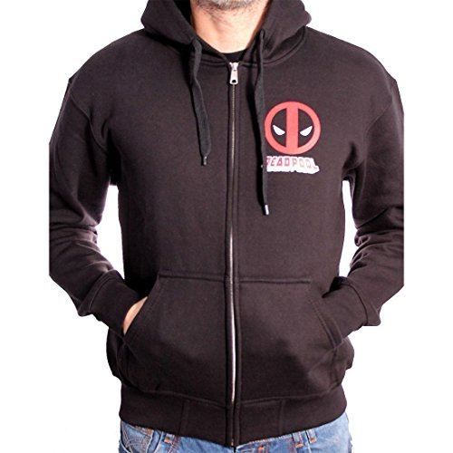 CODI - Deadpool Sweater à capuche zippé Logo (M)