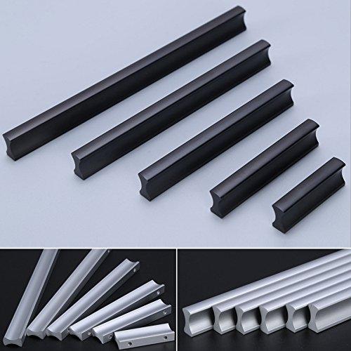 Angela-homestyle™ Möbelgriffe Aluminium Relinggriff Handgriff Griff für Küche Schublade, Tür, Schränke Dekoration (64mm, Silber)